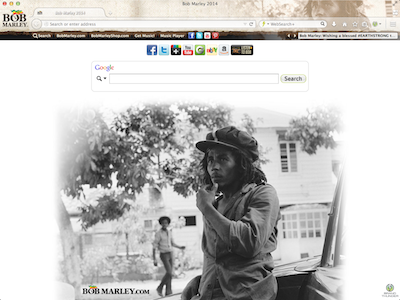 bob marley theme chrome browser