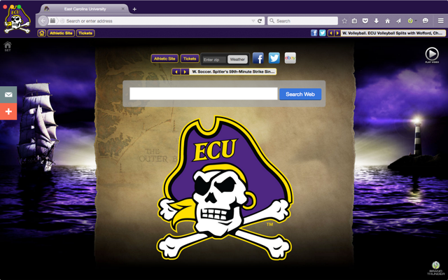 East Carolina University welcome image