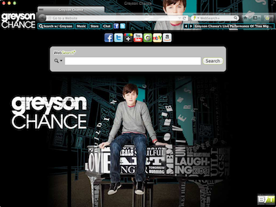 Greyson Chance welcome image