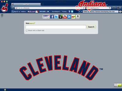 Cleveland Indians welcome image