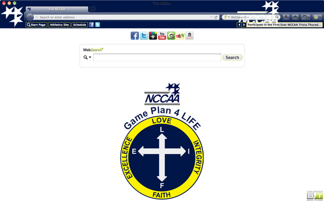 The NCCAA welcome image
