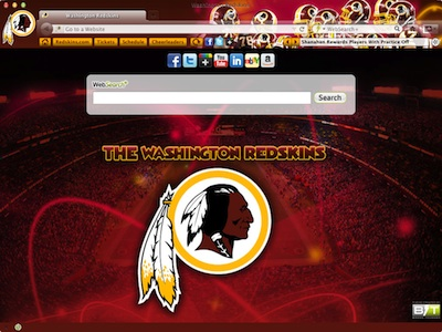 Washington Redskins welcome image