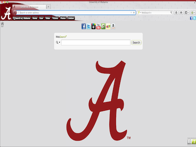 Alabama Crimson Tide Browser Theme